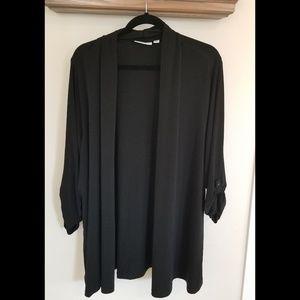 Susan Graver size 3x black open cover shirt.